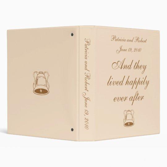 Elegant Wedding Memories Vinyl Binders