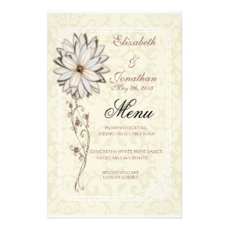 Elegant Wedding Menu Stationery