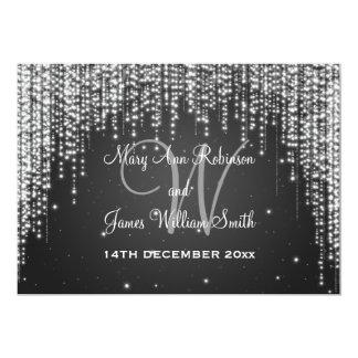"Elegant Wedding Night Dazzle Black 5"" X 7"" Invitation Card"