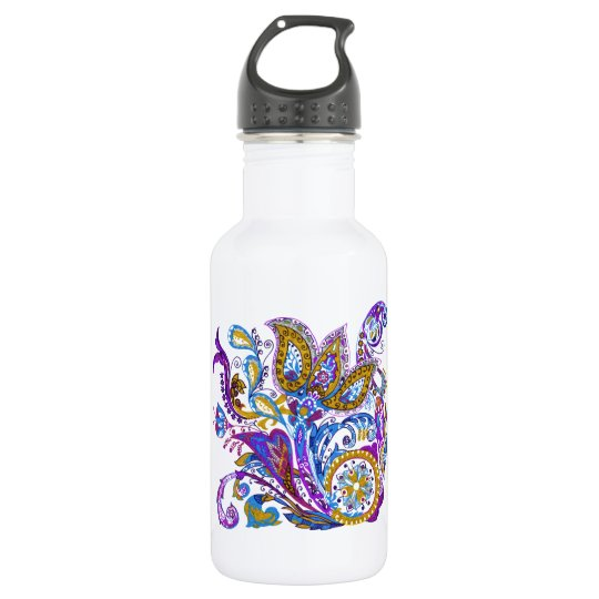 Elegant wedding ornament. Stylish paisley design 532 Ml Water Bottle