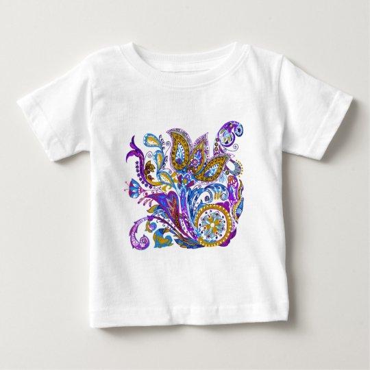 Elegant wedding ornament. Stylish paisley design Baby T-Shirt