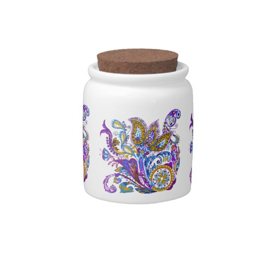 Elegant wedding ornament. Stylish paisley design Candy Dish