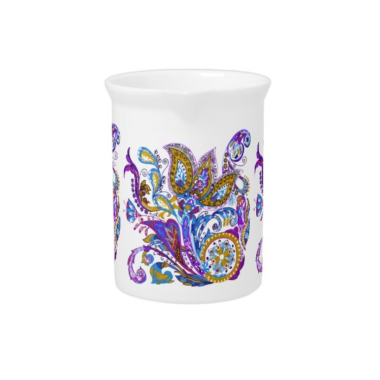 Elegant wedding ornament. Stylish paisley design Drink Pitchers