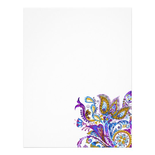 Elegant wedding ornament. Stylish paisley design Letterhead Template