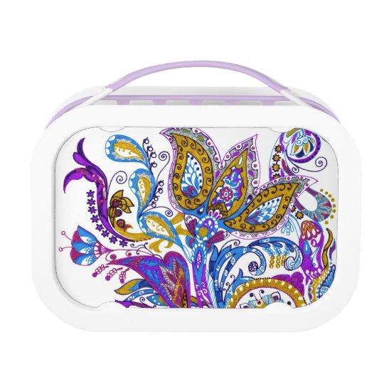 Elegant wedding ornament. Stylish paisley design Lunchboxes