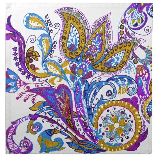 Elegant wedding ornament. Stylish paisley design Napkin
