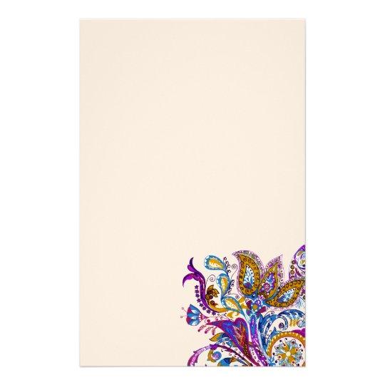 Elegant wedding ornament. Stylish paisley design Personalized Stationery