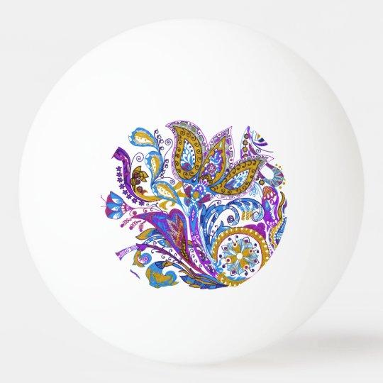 Elegant wedding ornament. Stylish paisley design Ping Pong Ball