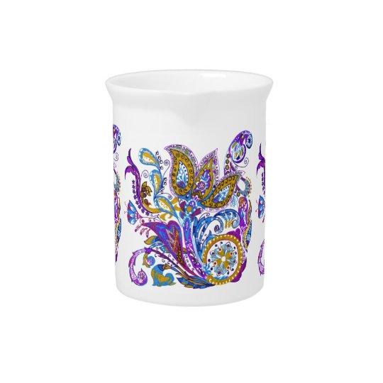 Elegant wedding ornament. Stylish paisley design Pitcher