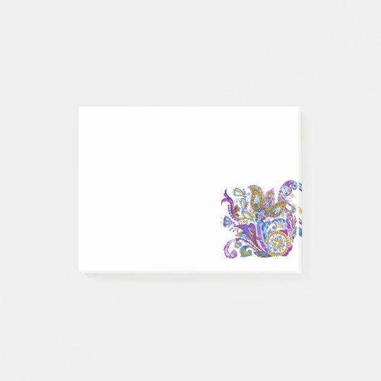 Elegant wedding ornament. Stylish paisley design Post-it Notes