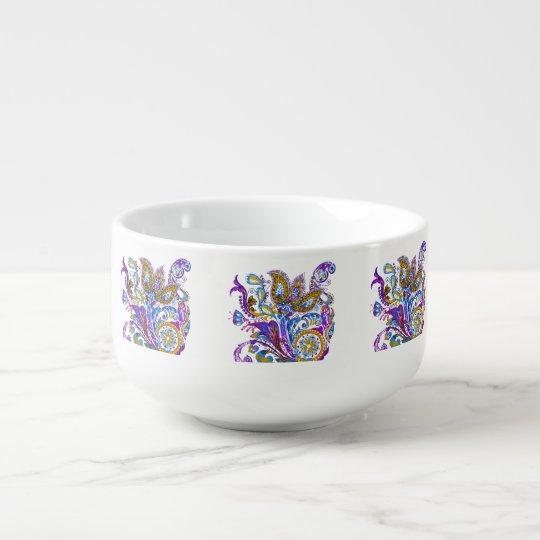 Elegant wedding ornament. Stylish paisley design Soup Mug