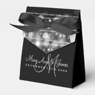Elegant Wedding Party Sparkles Silver Favor Box
