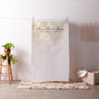 Elegant Wedding Photo Backdrop Gold Sparkle Lights