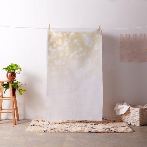 Elegant Wedding Photo Backdrop Gold Sparkle Lights Fabric