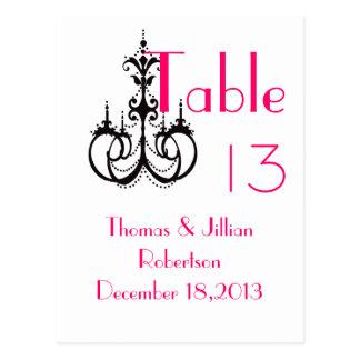 Elegant Wedding Postcard table numbers