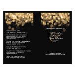 Elegant Wedding Program Gold Lights Personalized Flyer