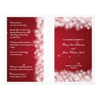 Elegant Wedding Program Party Sparkle Red Flyers