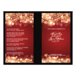 Elegant Wedding Program Sparkling Lights Gold Full Colour Flyer