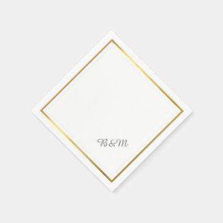 elegant wedding reception_party white minimalist disposable napkin