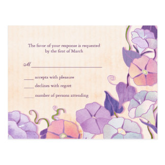 Elegant Wedding Response Card Postcard