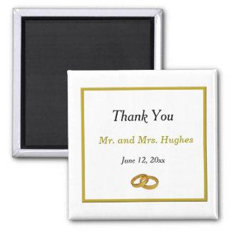 Elegant wedding ring wedding thank you magnet