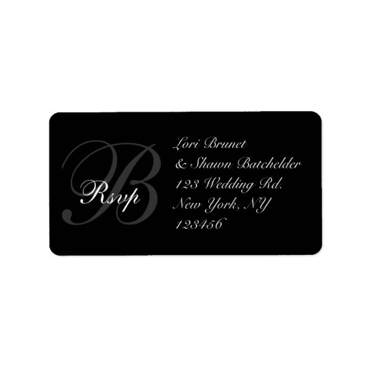 Elegant Wedding RSVP Address Label