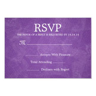 Elegant Wedding RSVP Romantic Paris Purple Card