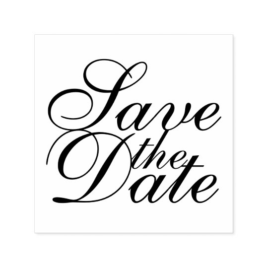 Elegant Wedding Save the Date Self-inking Stamp