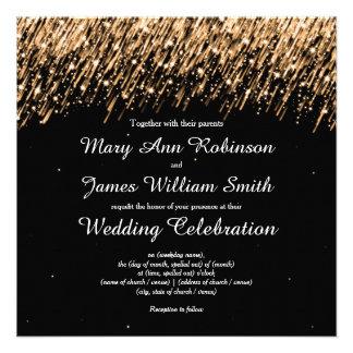 Elegant Wedding Save The Date Stars Gold Custom Announcement