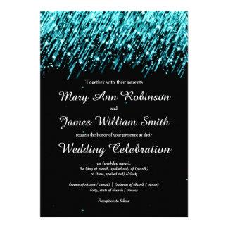Elegant Wedding Save The Date Stars Turquoise Custom Invite