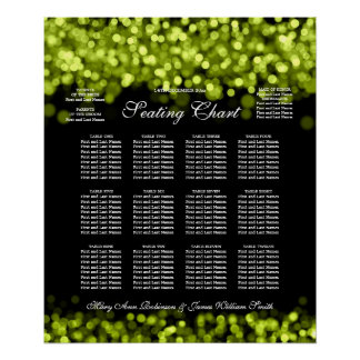 Elegant Wedding Seating Chart Lime Lights Print