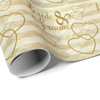 Elegant Wedding Stripes  and Gold Design