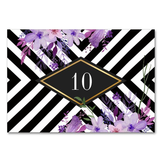 Elegant wedding table number card