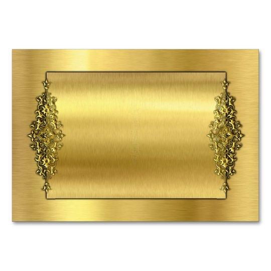 Elegant Wedding TableCards, Gold Card