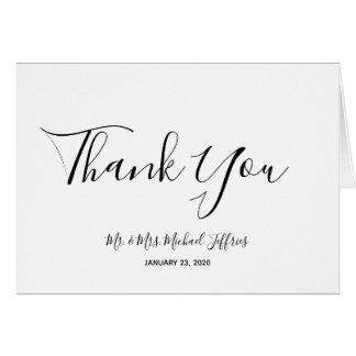 Elegant Wedding Thank You Card