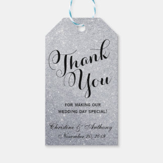 Elegant Wedding Thank You Favor Tags Silver Lights Pack Of Gift Tags
