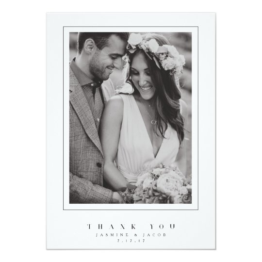 Elegant Wedding Thank You Photo Card