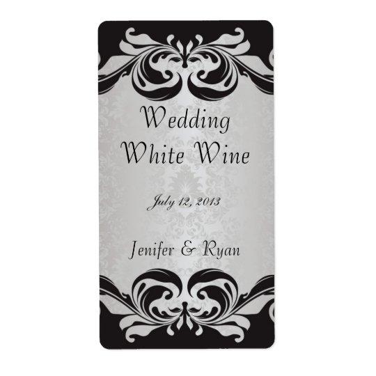 Elegant wedding wine label shipping label