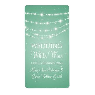 Elegant Wedding Wine Label Sparkling Chain Mint Gr Shipping Label