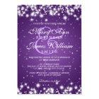 Elegant Wedding Winter Sparkle Purple Card