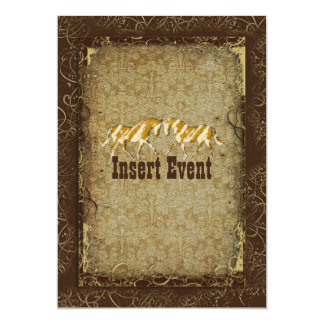 Elegant western horse ranch party card