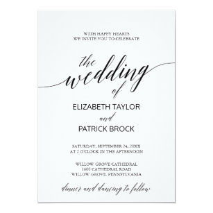 black and white wedding invitations announcements zazzle ca