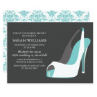 Elegant White and Blue Shoes Bridal Shower Card