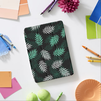 Elegant White and Green Palm Leaves iPad Air Case iPad Air Cover