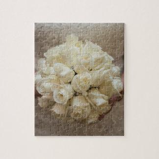 Elegant White Bridal Bouquet Jigsaw Puzzle