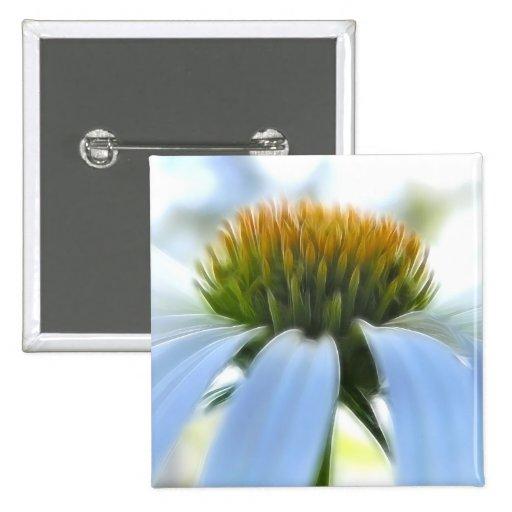 Elegant White Coneflower Button