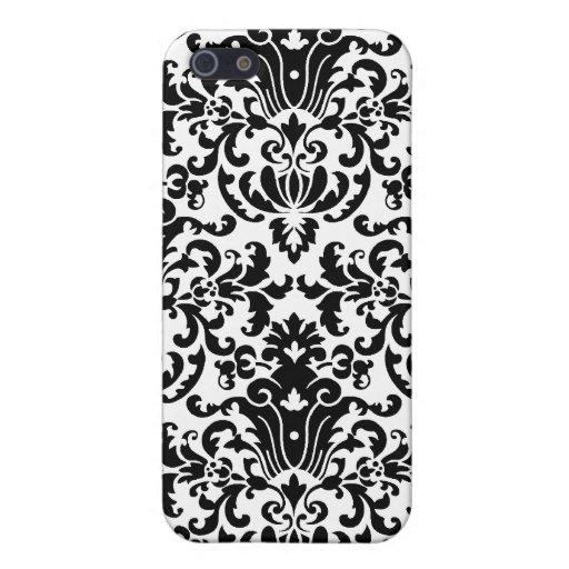 Elegant White Damask Customizable iPhone 5 Case