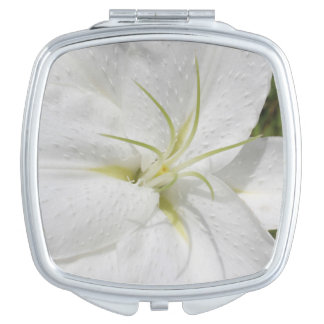 Elegant White Easter Lily Mirror For Makeup