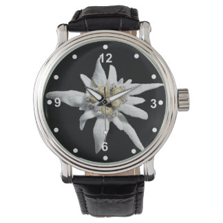 Elegant White Edelweiss Watch
