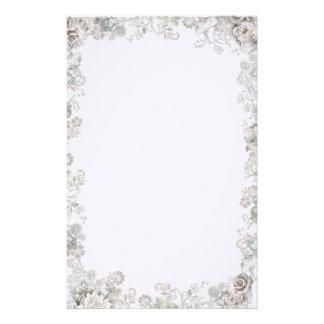 Elegant White Flowers Stationery